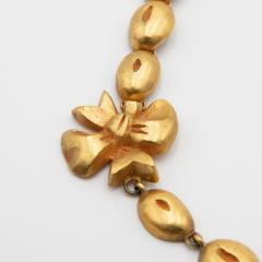 Line Vautrin Line Vautrin France Flowers and Coffee Beans Necklace Gilded Bronze - 1016205