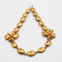 Line Vautrin Line Vautrin France Flowers and Coffee Beans Necklace Gilded Bronze - 1016206