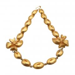 Line Vautrin Line Vautrin France Flowers and Coffee Beans Necklace Gilded Bronze - 1017779