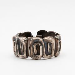 Line Vautrin Line Vautrin France Icare Silvered Bronze Band Bracelet - 979121