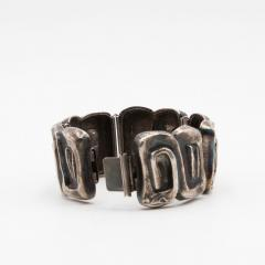 Line Vautrin Line Vautrin France Icare Silvered Bronze Band Bracelet - 979123