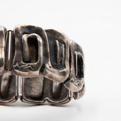 Line Vautrin Line Vautrin France Icare Silvered Bronze Band Bracelet - 979124