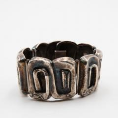 Line Vautrin Line Vautrin France Icare Silvered Bronze Band Bracelet - 979125