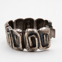 Line Vautrin Line Vautrin France Icare Silvered Bronze Band Bracelet - 979126