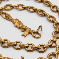 Line Vautrin Line Vautrin France Rare long necklace The trapezists Gilded bronze - 1016191