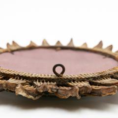Line Vautrin Line Vautrin French Mirror Soleil A Pointes Dark Bronze Incrusted Mirrors - 1263235