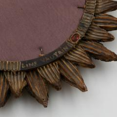 Line Vautrin Line Vautrin French Mirror Soleil A Pointes Dark Bronze Incrusted Mirrors - 1263237