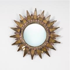 Line Vautrin Line Vautrin French Mirror Soleil A Pointes Dark gold Incrusted Mirrors - 1276116
