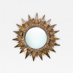 Line Vautrin Line Vautrin French Mirror Soleil A Pointes Dark gold Incrusted Mirrors - 1277615