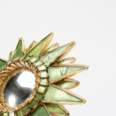 Line Vautrin Line Vautrin French Mirror Soleil A Pointes Green Incrusted Mirrors - 1506677