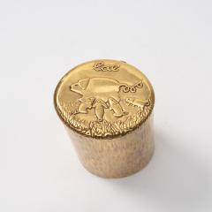 Line Vautrin Line Vautrin Gilded Bronze Box LAltruisme est Amour  - 1228845