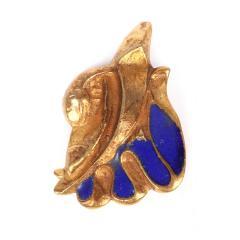 Line Vautrin Pair of Bronze and Enamel Earrings Line Vautrin - 2125455