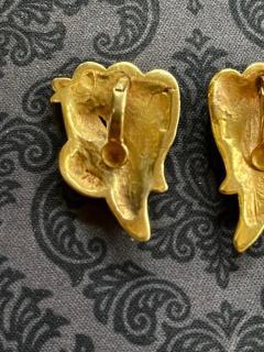Line Vautrin Pair of Bronze and Enamel Earrings Line Vautrin - 2125457