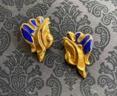 Line Vautrin Pair of Bronze and Enamel Earrings Line Vautrin - 2125459