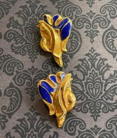 Line Vautrin Pair of Bronze and Enamel Earrings Line Vautrin - 2125460