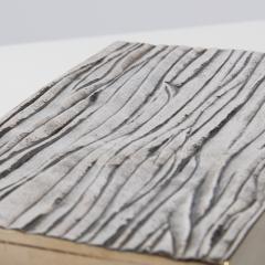 Line Vautrin Silvered Bronze Box Les Roseaux visage humain  - 1690707