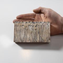 Line Vautrin Silvered Bronze Box Les Roseaux visage humain  - 1690710