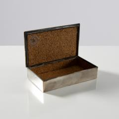 Line Vautrin Silvered Bronze Box Les Roseaux visage humain  - 1690711
