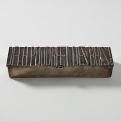 Line Vautrin Silvered bronze box De la poudre et des bals  - 1690892