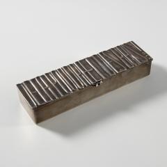 Line Vautrin Silvered bronze box De la poudre et des bals  - 1690893