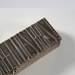 Line Vautrin Silvered bronze box De la poudre et des bals  - 1690894