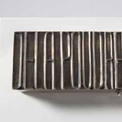 Line Vautrin Silvered bronze box De la poudre et des bals  - 1690899