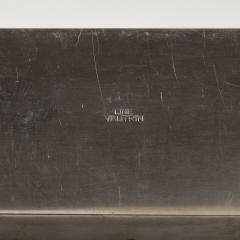 Line Vautrin Silvered bronze box De la poudre et des bals  - 1690900