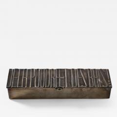 Line Vautrin Silvered bronze box De la poudre et des bals  - 1693566