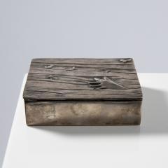 Line Vautrin Silvered bronze box La main aux poissons  - 1690906