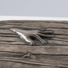 Line Vautrin Silvered bronze box La main aux poissons  - 1690908