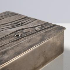Line Vautrin Silvered bronze box La main aux poissons  - 1690910
