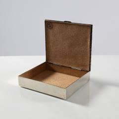 Line Vautrin Silvered bronze box La pri re de Saint Fran ois  - 1690746