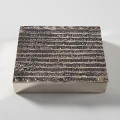 Line Vautrin Silvered bronze box La pri re de Saint Fran ois  - 1690747