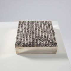 Line Vautrin Silvered bronze box La pri re de Saint Fran ois  - 1690748