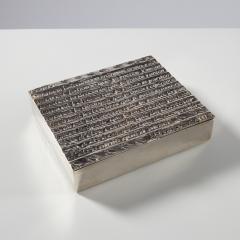 Line Vautrin Silvered bronze box La pri re de Saint Fran ois  - 1690749