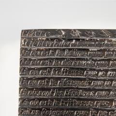 Line Vautrin Silvered bronze box La pri re de Saint Fran ois  - 1690750