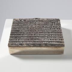 Line Vautrin Silvered bronze box La pri re de Saint Fran ois  - 1690751