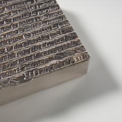Line Vautrin Silvered bronze box La pri re de Saint Fran ois  - 1690755