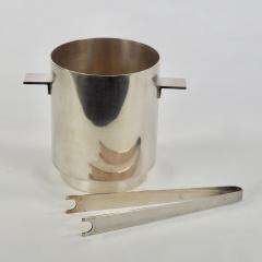 Lino Sabattini Lino Sabattini for Christofle Ice Bucket and Tongs with Wine Cooler 1970s - 1166582
