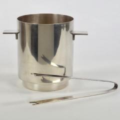 Lino Sabattini Lino Sabattini for Christofle Ice Bucket and Tongs with Wine Cooler 1970s - 1166583