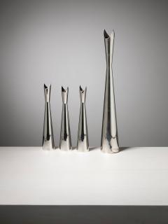 Lino Sabattini Set of Four Cardinale Vases by Lino Sabattini for Christofle - 1392774