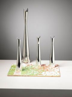 Lino Sabattini Set of Four Cardinale Vases by Lino Sabattini for Christofle - 1392775