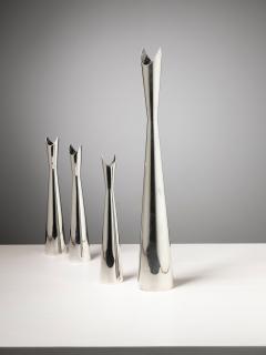 Lino Sabattini Set of Four Cardinale Vases by Lino Sabattini for Christofle - 1392777