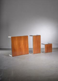 Lino Sabattini Set of Three Silver Plated Low Side Tables by Lino Sabattini - 1951791