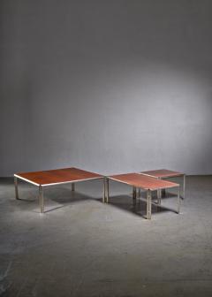 Lino Sabattini Set of Three Silver Plated Low Side Tables by Lino Sabattini - 1951792