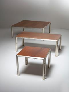 Lino Sabattini Set of Three Silver Plated Low Tables by Lino Sabattini - 909055