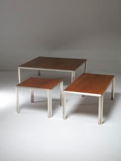 Lino Sabattini Set of Three Silver Plated Low Tables by Lino Sabattini - 909056