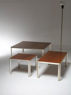 Lino Sabattini Set of Three Silver Plated Low Tables by Lino Sabattini - 909057
