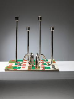 Lino Sabattini Silver Plated Candleholders by Lino Sabattini - 1044932