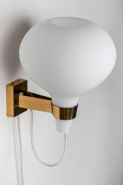 Lisa Johansson Pape Large 1950s Lisa Johansson Pape Bulbo Glass and Brass Wall Lamps for Orno - 1063463